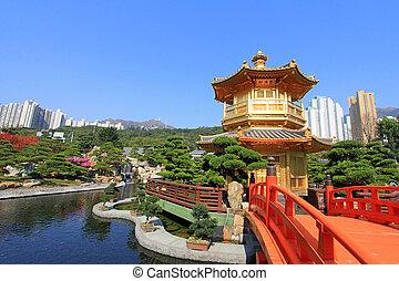 Nan Lian Garden, Hong Kong - Nan Lian Golden Pavilion of...