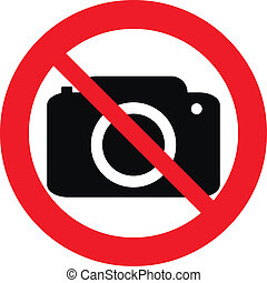 No photo camera vector sign isolated on white background.