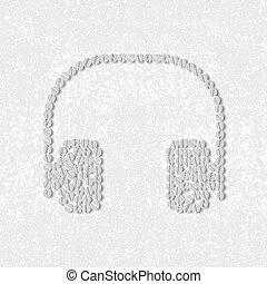 pills concept, headphones
