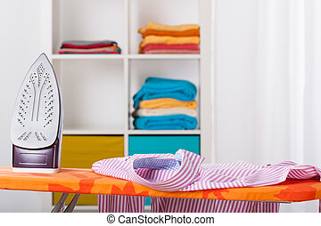 Ironing and cleaning at home - Ironing, washing and cleaning...