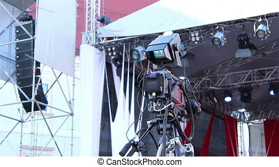 Television Camera with Control Moni - Proffesional...