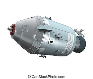 Apollo Command Service Module isolated on white background....