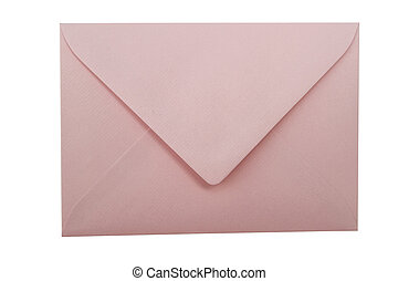 Pink Envelope - Pink envelope isolated on white background