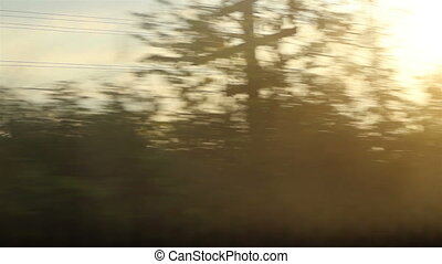 Sun Lanscape from Speed Train - Sun lanscape viewed on...