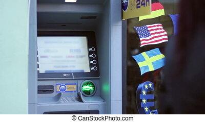 ATM Waiting for Withdrawals - Street ATM is ready for...