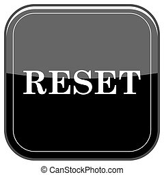 Reset icon - Glossy shiny icon - black internet button