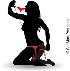 stripper girl - vector illustration of stripper girl