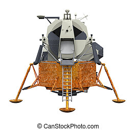 Apollo Lunar Module isolated on white background. 3D render