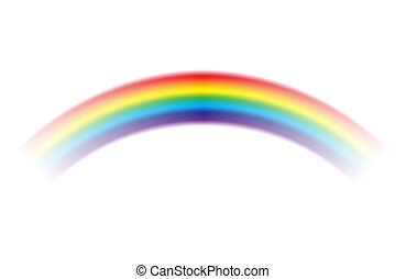 Rainbow on white background. Vector illustration.