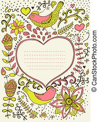 Spring coming card. Floral background, spring theme,...