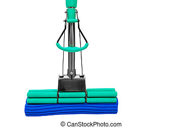 modern mop for washing floors on a white background