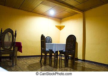 basic restaurant rural nicaragua - interior basic bare bones...