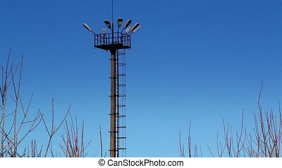 The top view of a prison tower
