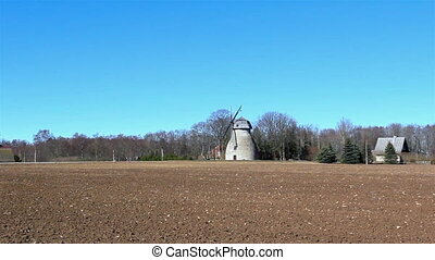 The old windmill in the country
