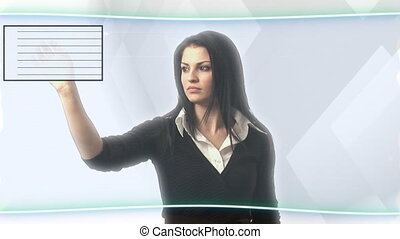 Security Concept - Stock Video of a Woman Gaining Access