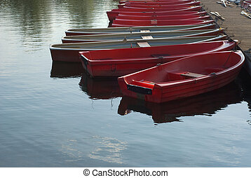 Row Boats on a Lake