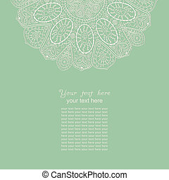 Vintage invitation card. Template frame design for card. Vintage Lace Doily.Can be used for packaging,invitatio ns, Valentine's Day decoration,bag template, print for packet, cup.