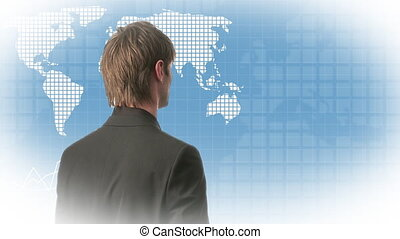 Man Looking at Graph - Stock Video Footage of a Man Looking...