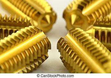 Screw taps 2 - Screw taps on the white background