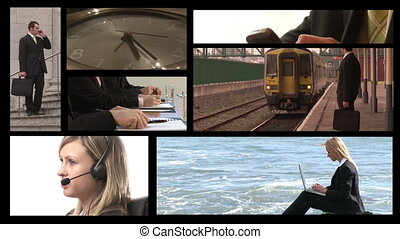 Business on the Go - Stock Video Footage Montage of Business...