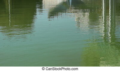 Green Water Reflections - Greenish water background slightly...
