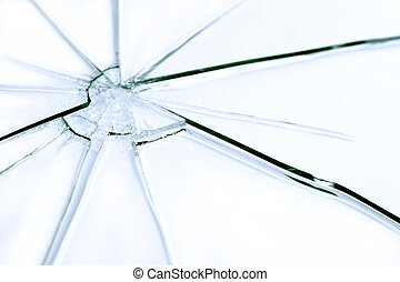 Shattered Glass - Closeup abstract shattered glass...