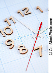 Time Concept - Bisiness concept Closeup of clock face on...