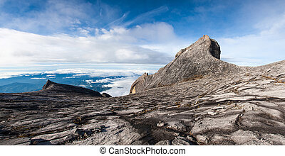 South peak and St John's peak of Kinabalu mount - Mount...