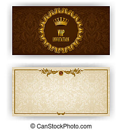 Elegant template for luxury invitation, card - Elegant...