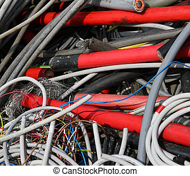 electrical cables in a special waste landfill 3 - abandoned...