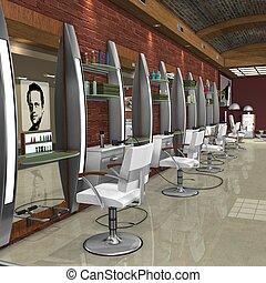 Hair Studio - 3D Render of an Hair Studio