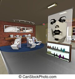 Hair Studio - 3D Render of an Hair Studio