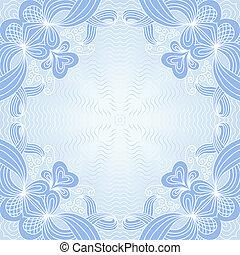 Ornamental pattern - Ornamental geometric lace pattern in...