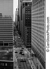 Chicago Daily Life - The view down West Washington St in...