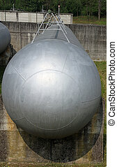 tanks and large huge cistern the storage of gas - giant...