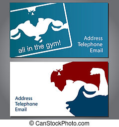 Business card for gym - business card for gym and fitness,...