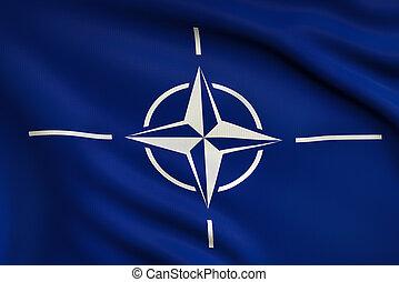 Flag of NATO - 3d illustration flag of NATO
