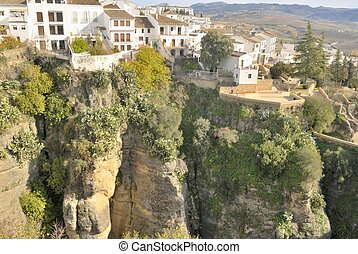 Ronda - Houses built on Ronda canyon Ronda is a beautiful...