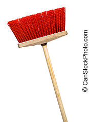 red mop - Beautiful red mop on a white background