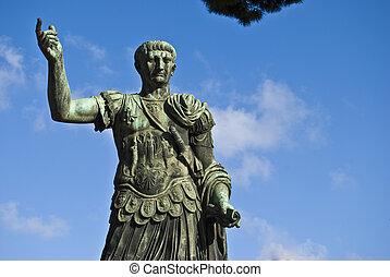 Gaius Augustus - statue of the famous roman emperor Augustus