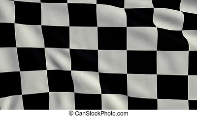 Black And White Chequered Flag loop - 3d animation Black And...