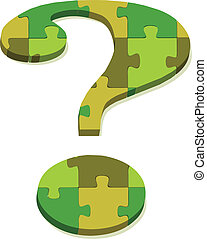 question mark in puzzle
