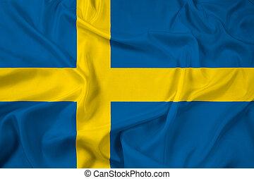 Waving Sweden Flag