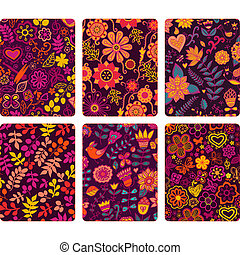 Fashion tablet skins. Modern floral patterns with flowers to...