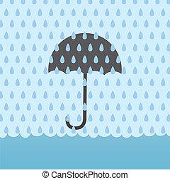 Rain Flood Umbrella - Umbrella behind rain storm and above...