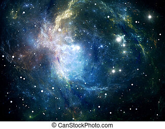 Space star nebula - Space background filled with nebulae and...