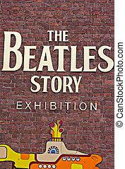 The Beatles Story Exhibition Sign, at Albert Dock,...