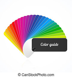 Color palette guide, fan, catalog