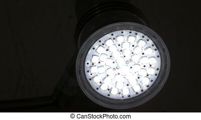 Energy Saving LED Light Flashing - An energy saving,...