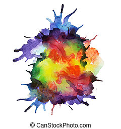 Vector spray paint, watercolor splash background